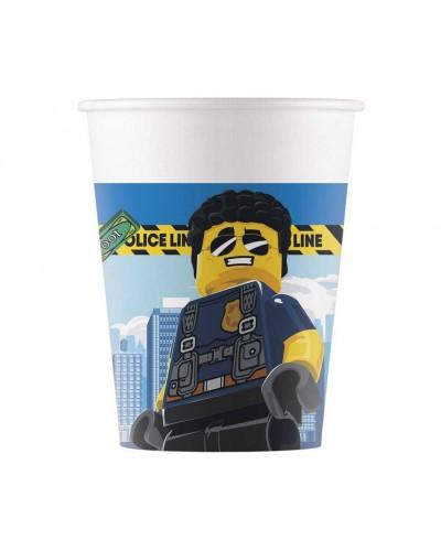 Kubeczki papierowe Lego City