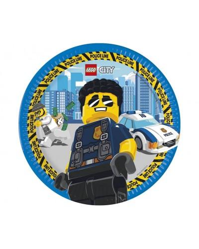 Talerzyki papierowe Lego City
