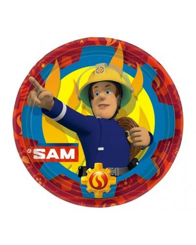 Papierowe talerzyki Strażak Sam