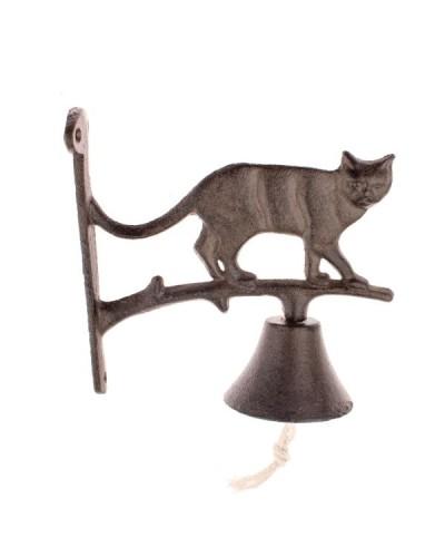 Żeliwny Dzwonek Z Kotem