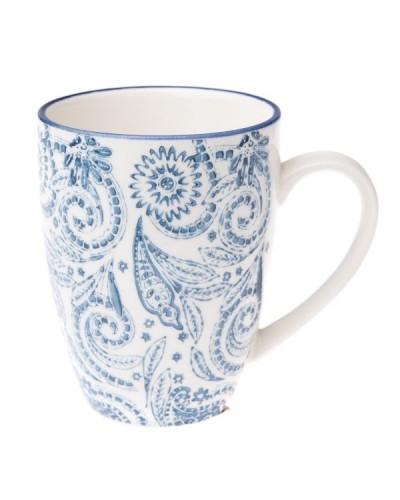 Kubek Ceramiczny Floral Blue Art 350ml