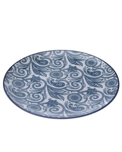 Talerzyk Porcelanowy Floral Blue Art