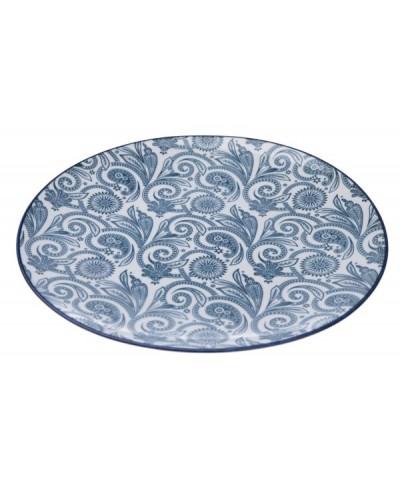 Talerz Porcelanowy Floral Blue Art