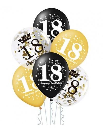 Zestaw Balonów Na 18 Urodziny 6 szt.