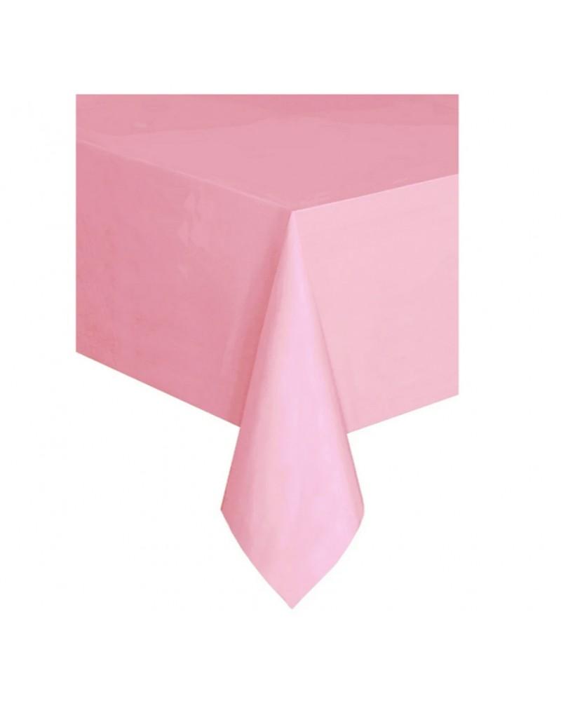 Obrus plastikowy pastelowy różowy
