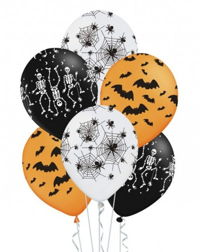 "Balony Na Halloween Mix 12"" 6 szt."