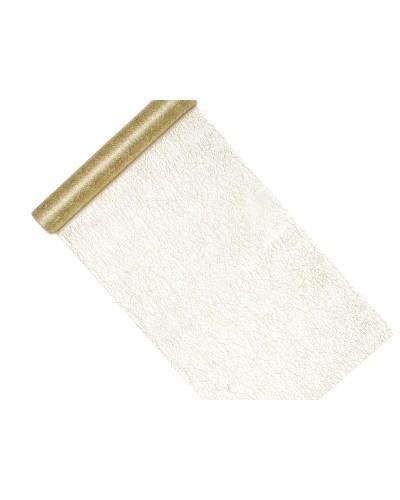 Siatka Dekoracyjna Fiber Złoty 0,36x9m
