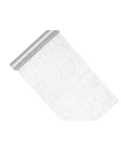 Siatka Dekoracyjna Fiber Srebrny 0,36x9m