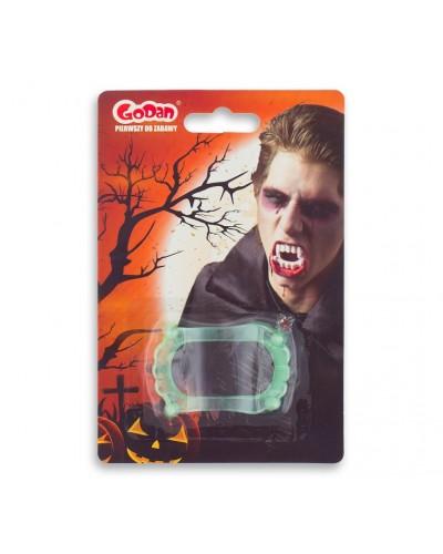 Zęby Wampira Halloween Świecące