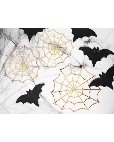 Pajęczyny Papierowe Złote Halloween
