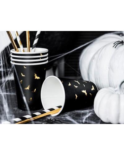 Kubeczki Trick or Treat - Nietoperze na Halloween 6 szt.
