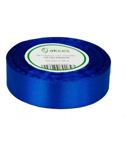 Wstążka satynowa 25mm niebieska