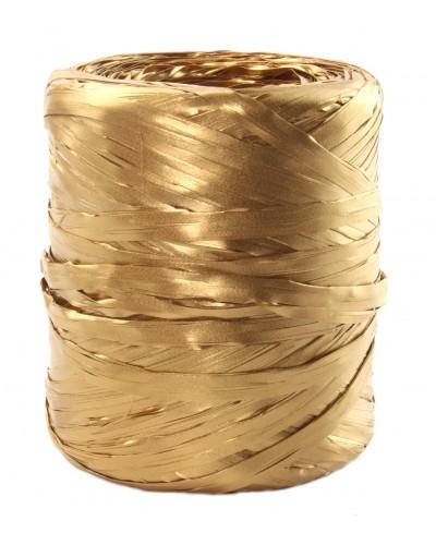 Rafia w rolce złota metalizowana 200m