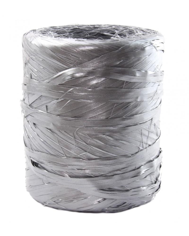 Rafia w rolce srebrna metalizowana 200m