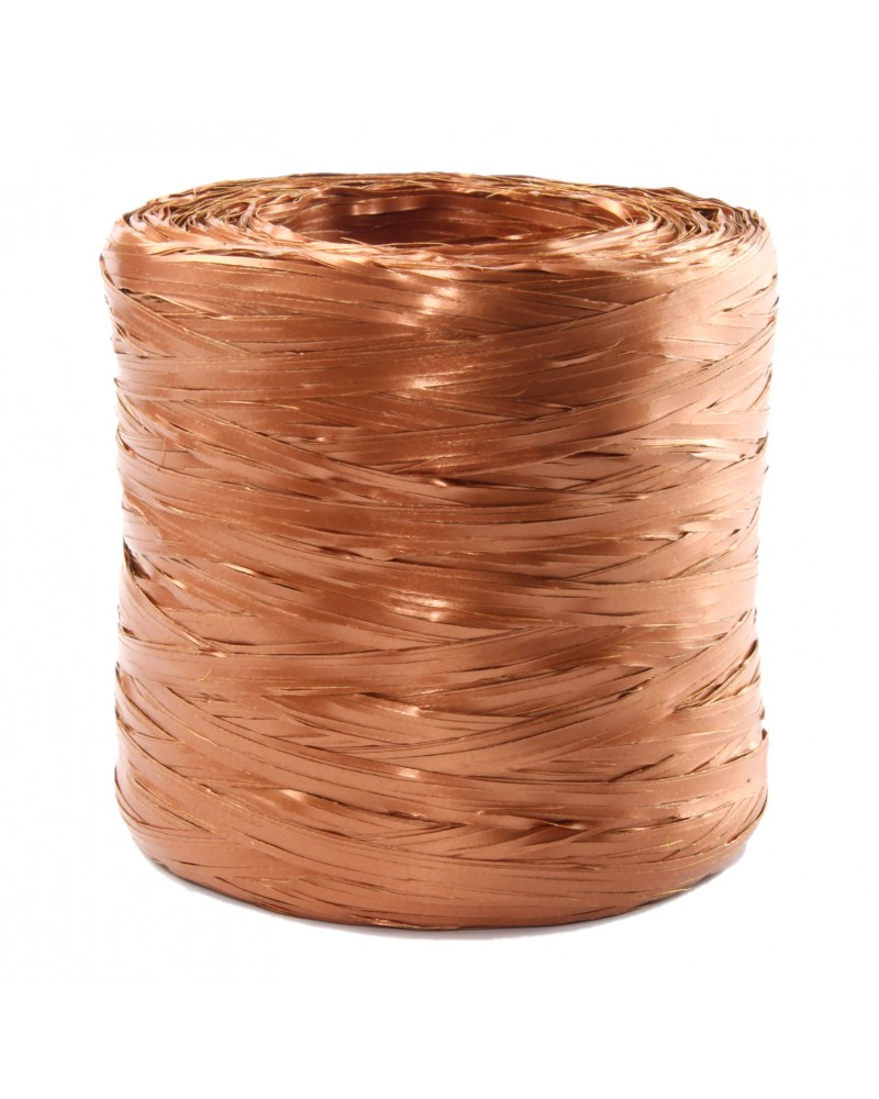 Rafia w rolce rose gold metalizowana 200m