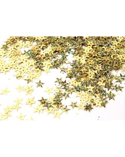 Cekiny Gwiazdki Mieniące Złote 15g 10mm
