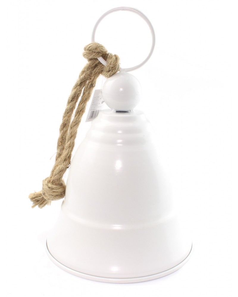 Dzwonek Metalowy Ze Sznurem Duży Biały