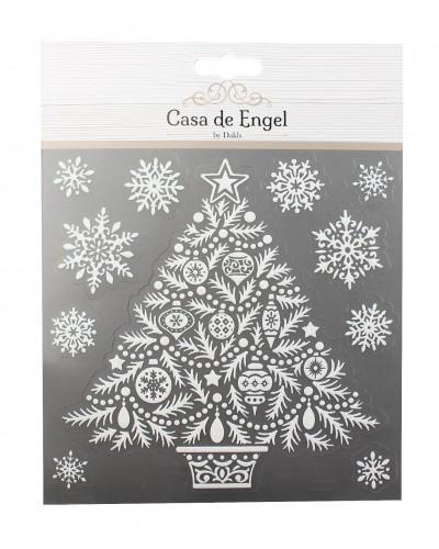 Dekoracyjne naklejki - świąteczna choinka