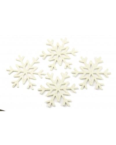 Zawieszki Śnieżynki - 4 sztuki, białe