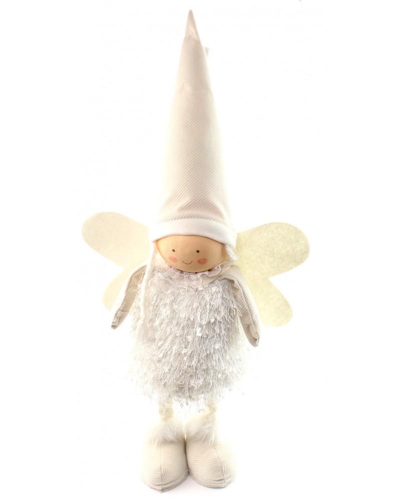 Anioł Skrzat Biały 57cm