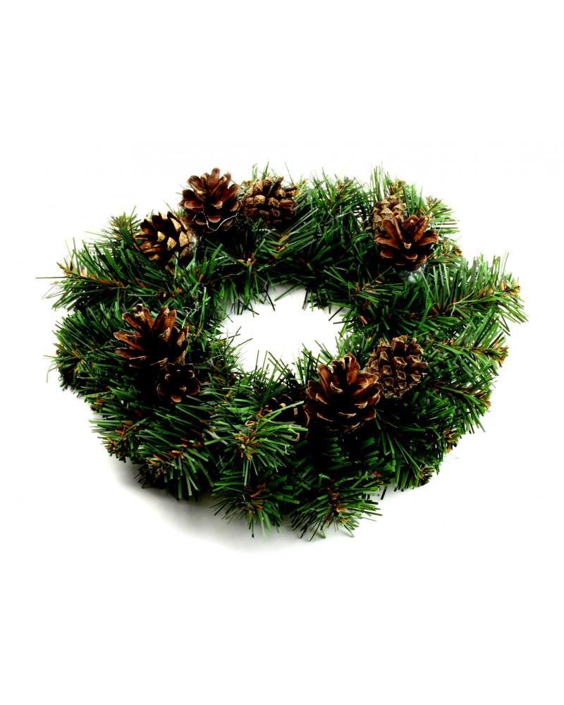 Wianek Jodła Świąteczna z ozdobami 30cm