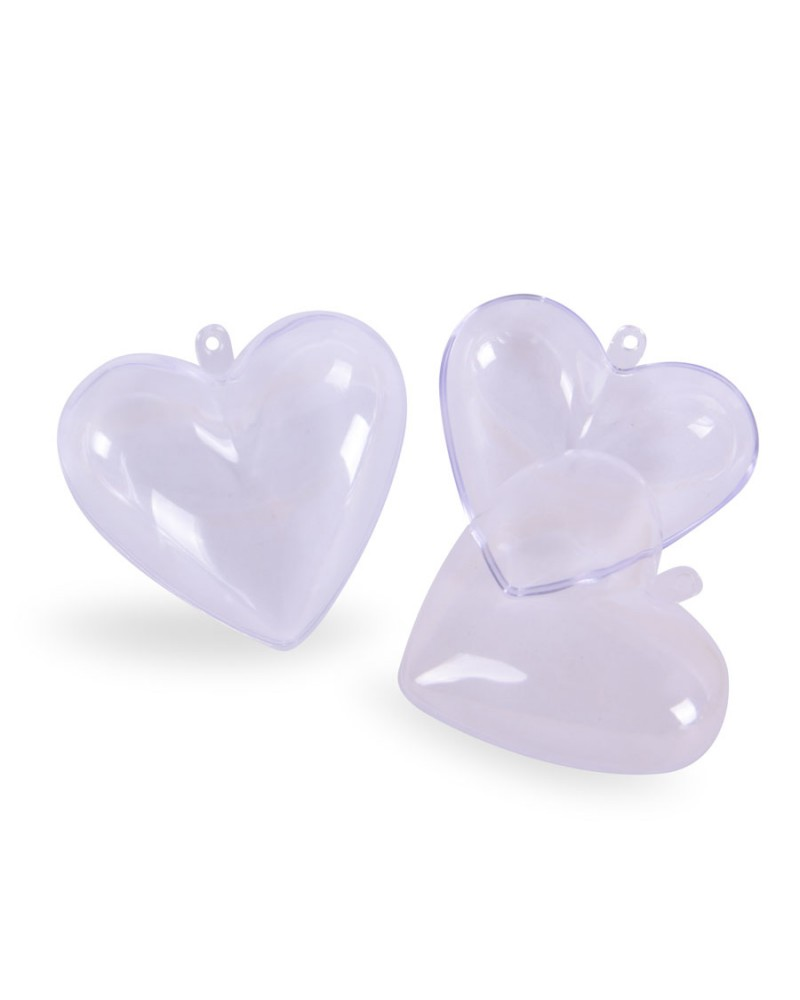 Serca Akrylowe 6,5cm 2 sztuki