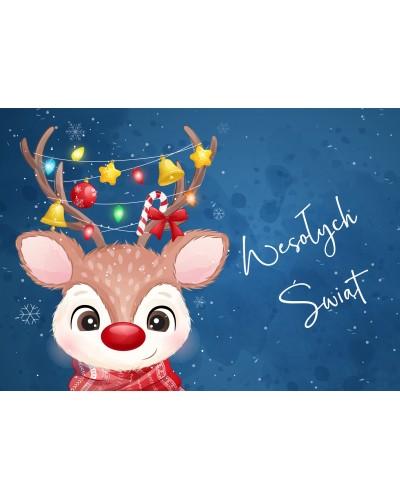 Kartka Świąteczna Mały Reniferek