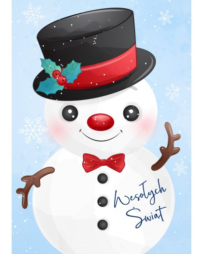 Kartka Świąteczna Pan Bałwan