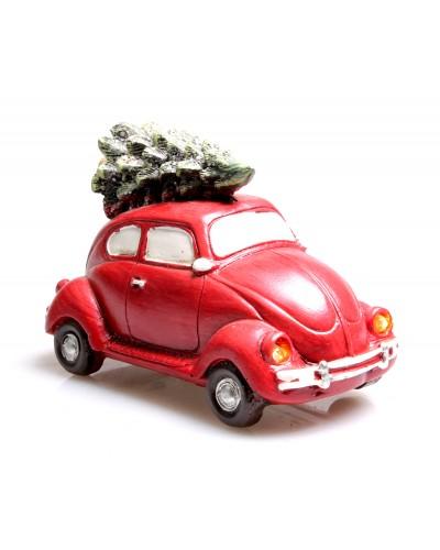 Samochodzik Figurka Świąteczna Ze Światłami