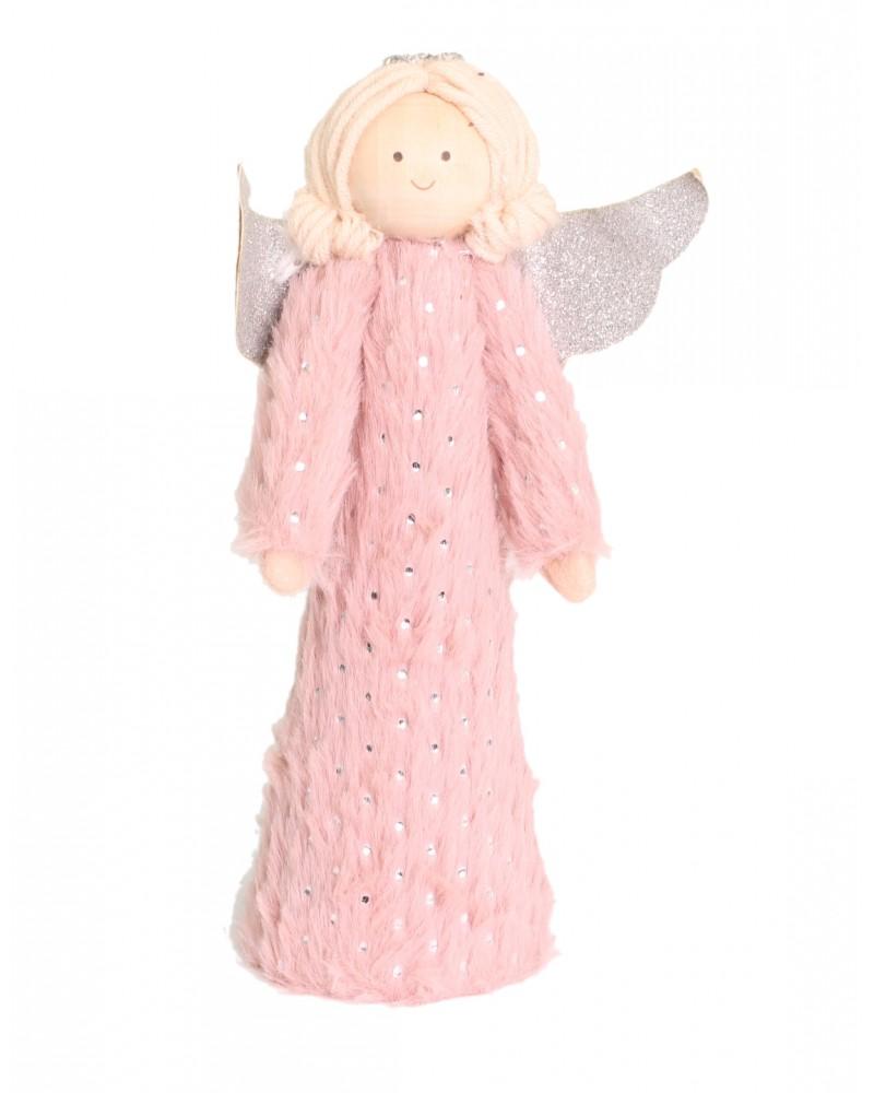 Aniołek Drewniany Figurka Świąteczna