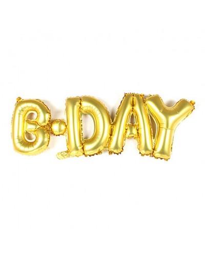 Balon foliowy B-Day Złoty
