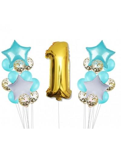 Zestaw z balonami na roczek, Niebieski