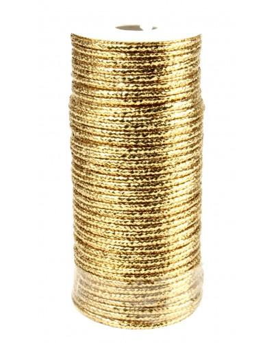 Sznurek Metalizowany Złoty 15m / 2mm