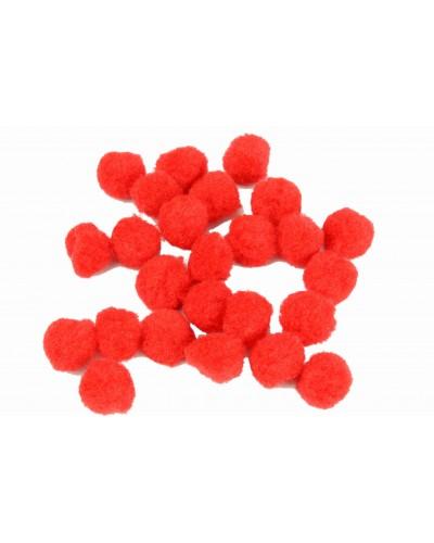 Pomponiki dekoracyjne 1,5cm czerwone