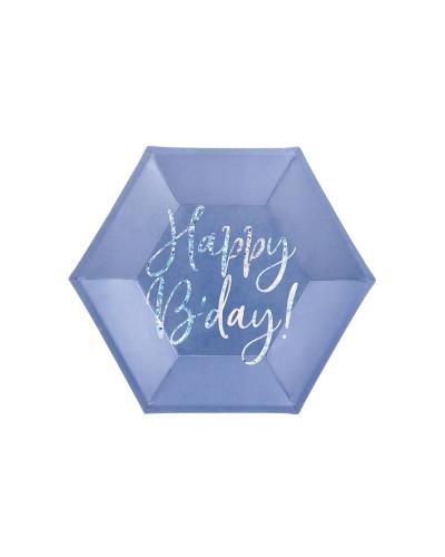 Talerzyki urodzinowe Happy Bday