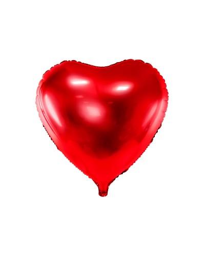 Balon foliowy Serce czerwone 45cm