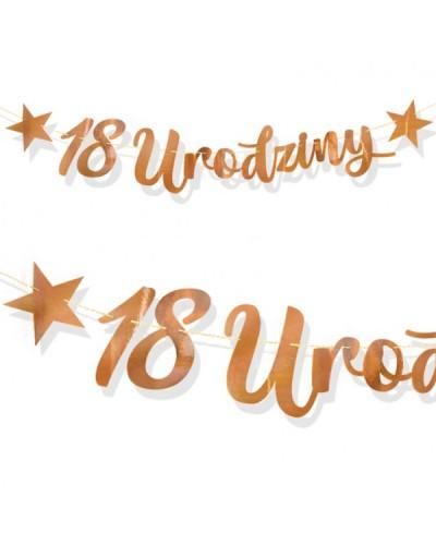 Baner na 18 Urodziny Rose Gold Lustrzany