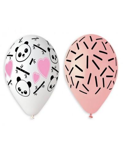 "Balony lateksowe Premium ""Panda i Serca"""