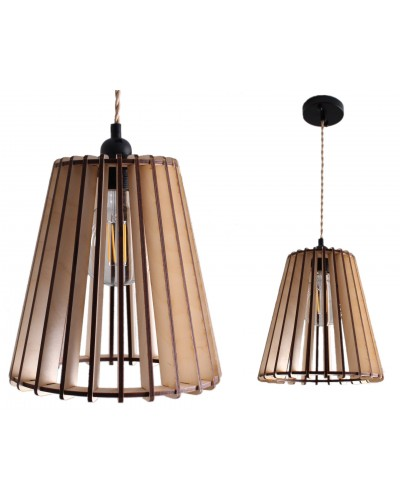 "Lampa Sufitowa Drewniana ""Cone"""