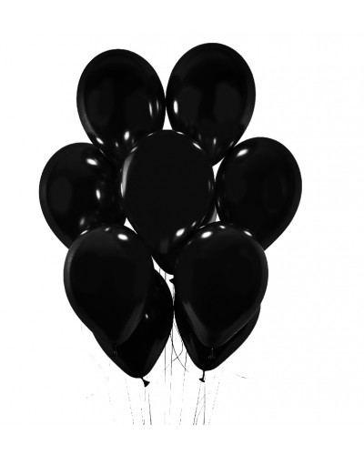 Balony chromowane 30cm Czarne 10szt.