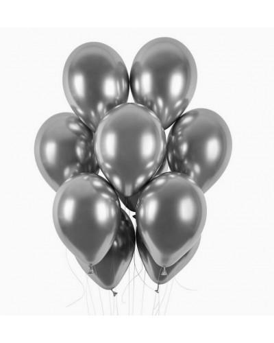 Balony chromowane 30cm Srebrne 10szt.