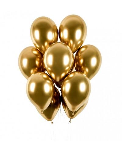 Balony chromowane 30cm Złote 10szt.