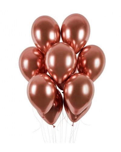 Balony chromowane 30cm Rose Gold 10szt.