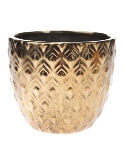 Doniczka Ceramiczna w Kolorze Złotym Glamour