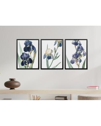 Obrazy w Drewnianej Ramie 90x40cm Orchid