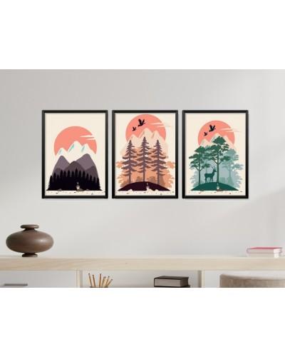 Obrazy w Drewnianej Ramie 90x40cm Mountain Fever