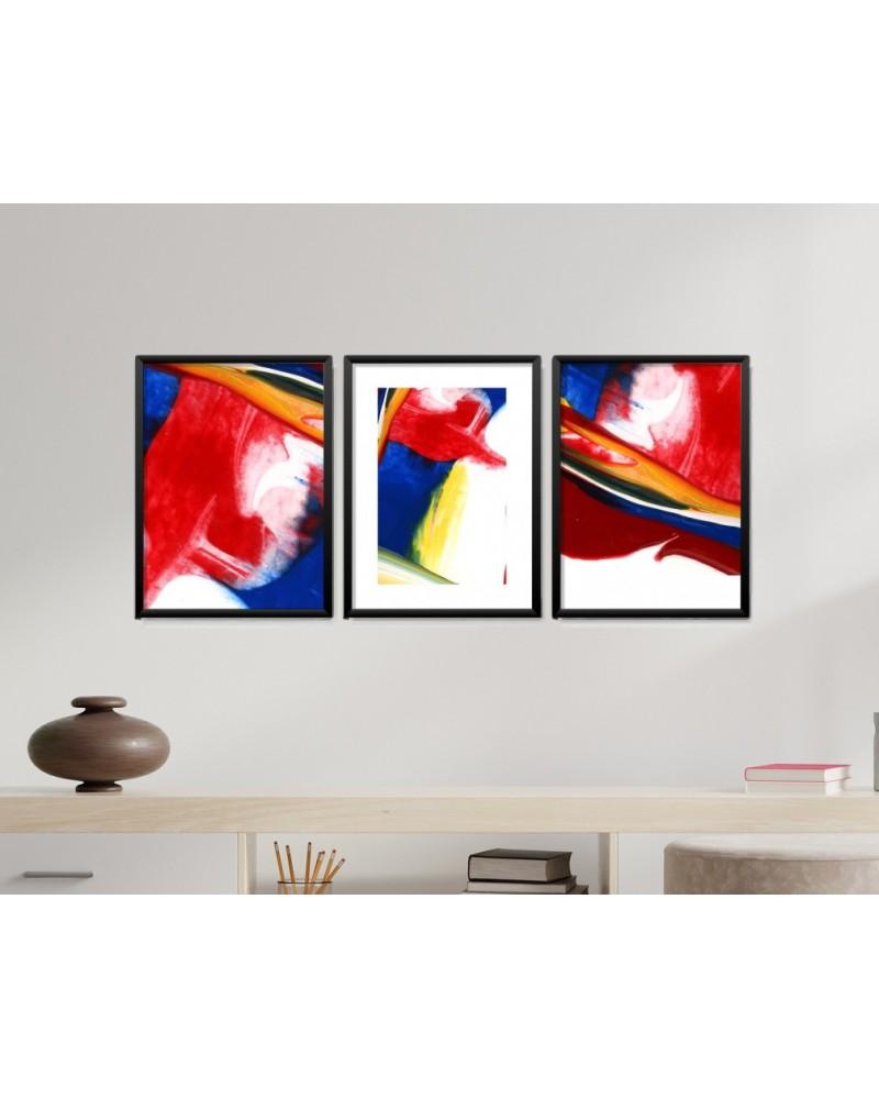 Obrazy w Drewnianej Ramie 90x40cm Art Of Paint
