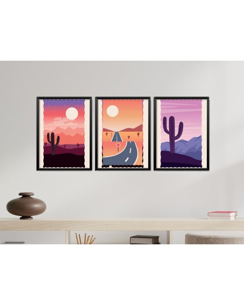 Obrazy w Drewnianej Ramie 90x40cm Abstract