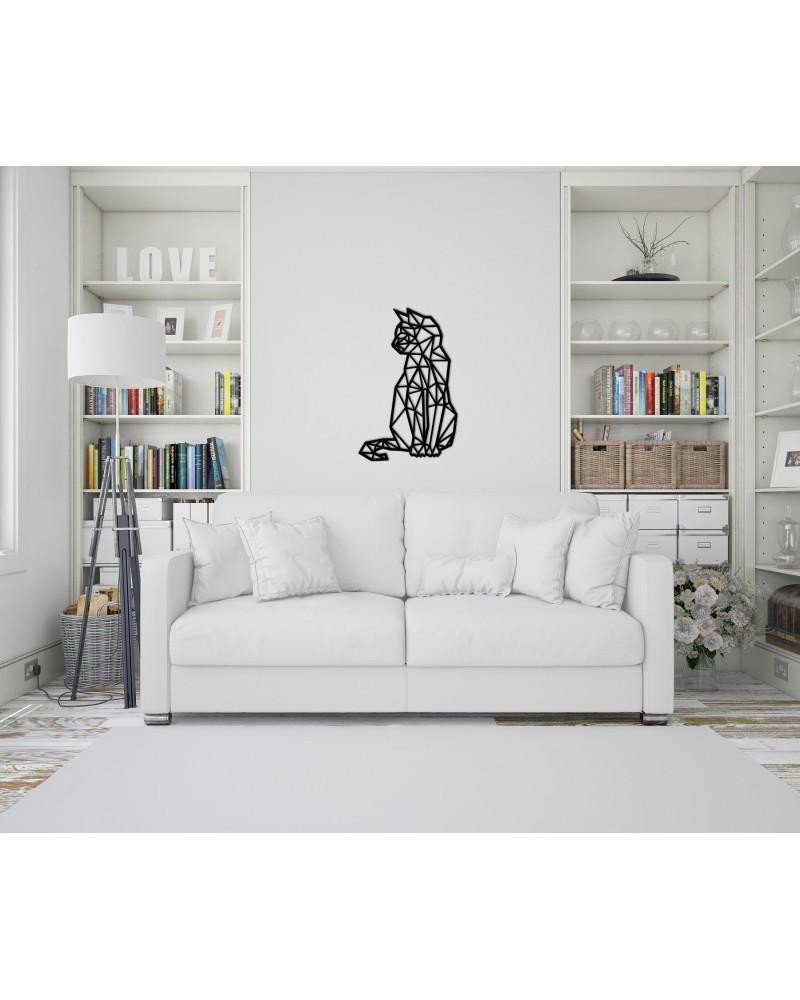 """Dekoracja Ścienna """"Kot Siedzący"""""""