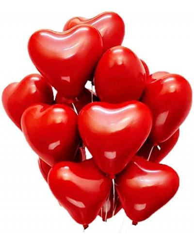Balony w kształcie SERCA Czerwone (10 szt.)
